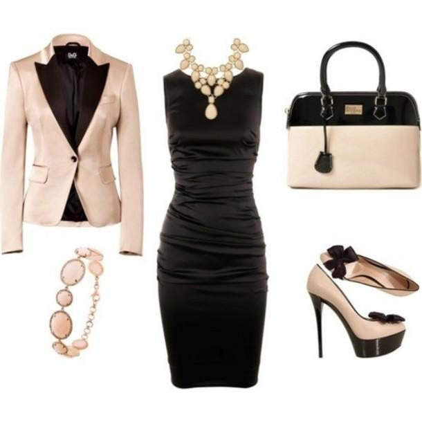 Dress Clothes Shoes Jacket Bag Purse Necklace Black Dress Bracelets High Heels Jewerly ...