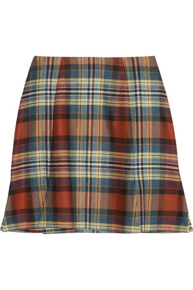 rocket tartan mini skirt