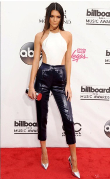 Jumpsuit Black And White Kendall Jenner Wheretoget