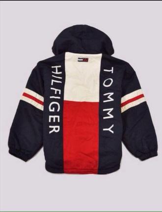 jacket tommy hilfiger tommy hilfiger jacket windbreaker red white navy