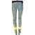 Yellow/turquoise Balenciaga Pantalon Slim Feuillages Mouchetes Jaune/turquoise - Femme's Pantalons - Balenciaga