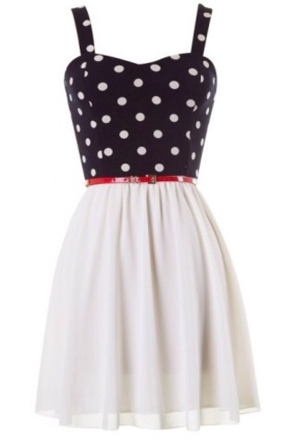dress polka dots belt style cute cute dress casual fashion