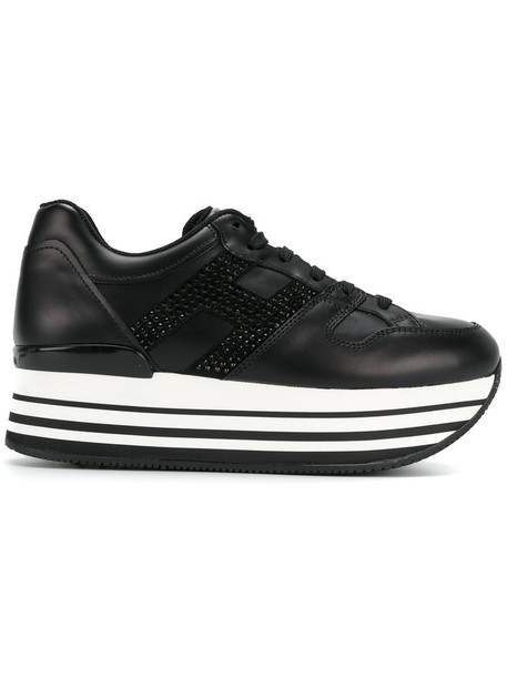 Hogan women leather black shoes