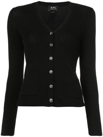 cardigan women black silk sweater