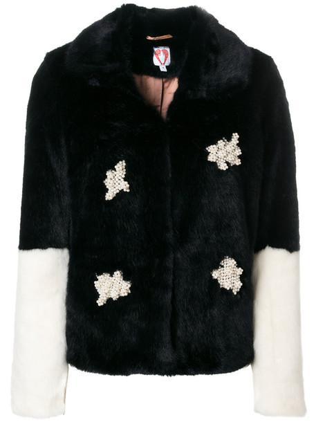 jacket embellished jacket women plastic embellished black