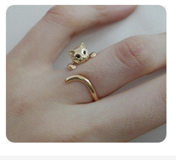 jewels ring cats gold gold