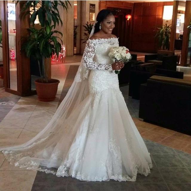 aliexpresscom buy arab middle east plus size long robe mariage 2016 sexy long sleeve louisvuigon wedding dress shine mermaid vestido de noiva from - Aliexpress Mariage