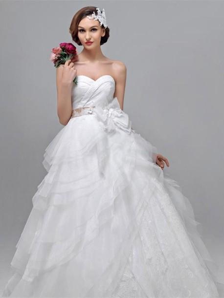 dress ウェディングドレス プリンセス ハートネック