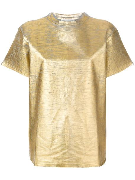 Golden Goose Deluxe Brand - worn detail T-shirt - women - Cotton - M, Grey, Cotton in metallic