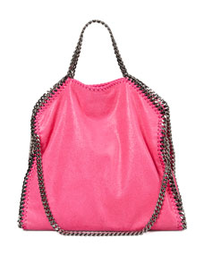 Stella McCartney Falabella Fold-Over Shoulder Bag, Hot Pink