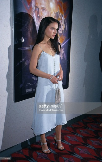 dress natalie portman young 90s style 90's shirt 90s vintage celebrity style celebrity