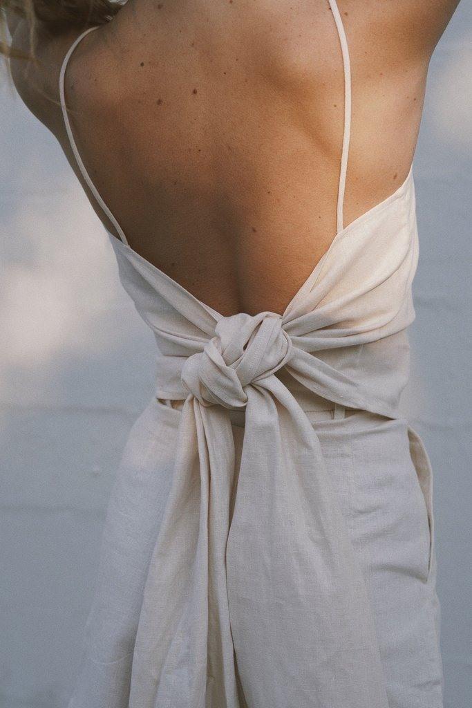 Iva Wrap Top - Vintage White