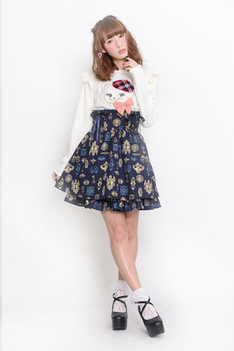 dress kitty cats paris fashion cute kawaii