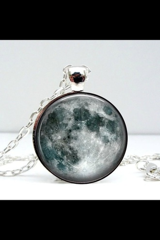 jewels necklace moon moon necklace