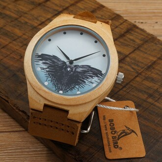 jewels watch game of thrones wood trendy brown raven birds boogzel apparel