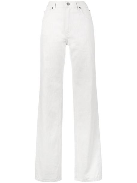 CALVIN KLEIN 205W39NYC jeans high women white cotton