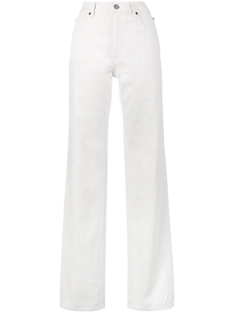 jeans high women white cotton