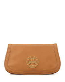 Amanda Logo Clutch Bag, Royal Tan