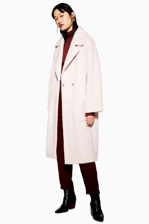 Blush Brushed Coat - Jackets & Coats - Clothing