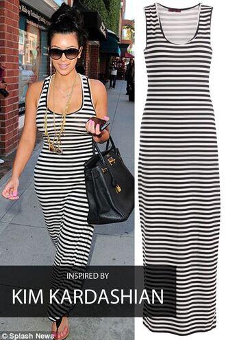 dress kim kardashian maxi dress striped dress