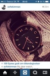 jewels,watch,marcbymarcjacobs,black
