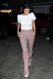 top,kourtney kardashian,kardashians,pants,plaid,fall outfits