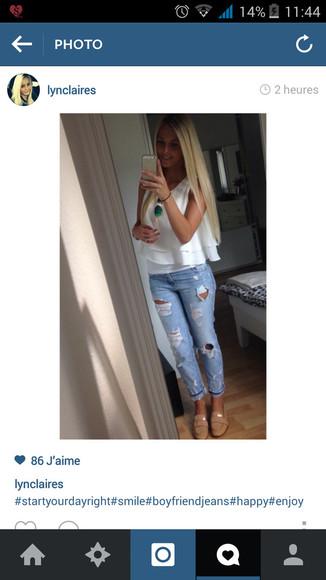 beige shoes shoes jeans blouse