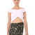 Bandage Wrap Cross Over Top-White | Josh Goot | Womenswear | brandsExclusive