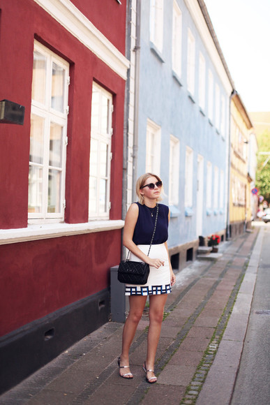 sunglasses shoes bag skirt top into the fold