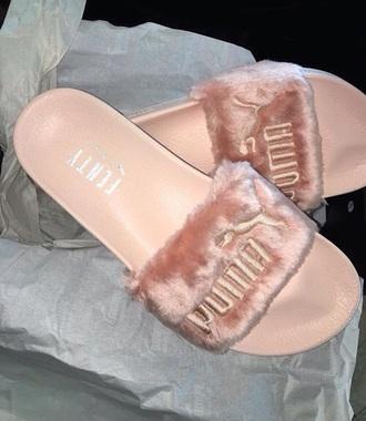 shoes fur puma slides puma fur slides
