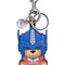 Moschino - transformer bear key ring - women - calf leather - one size, blue, calf leather