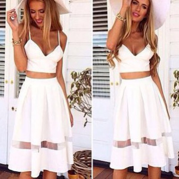 Skirt: lost souls, midi skirt, skirt white, white, white skirt ...