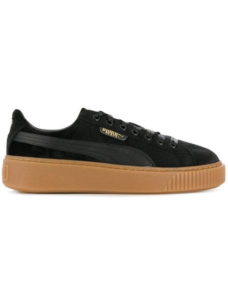 puma women sneakers platform sneakers black velvet shoes