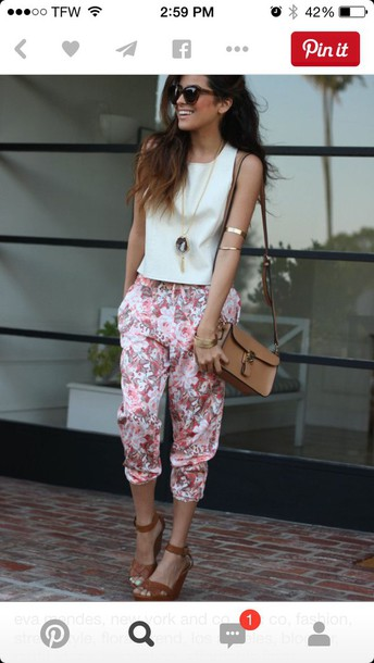 leggings pink flowers