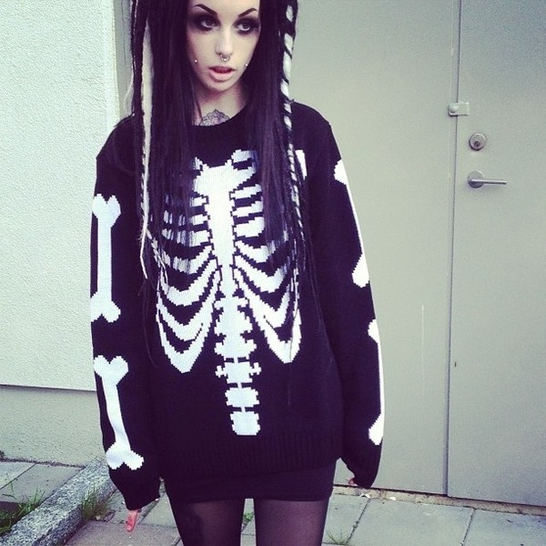 Ribcage Knit Sweater B | KILLSTAR