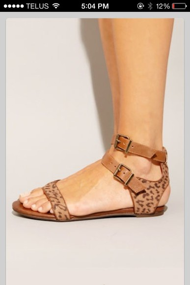 nude sandals shoes animal print sandals gladiators