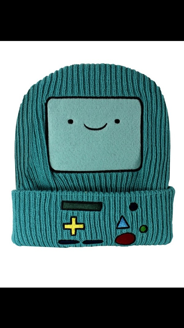 hat bmo beanie adventure time cartoon