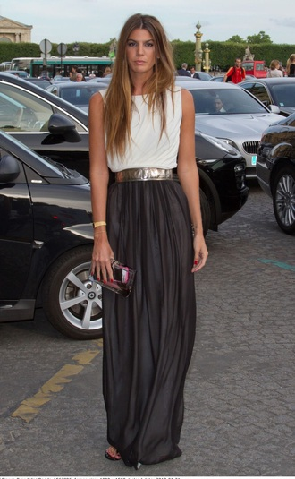 classy chic muse maxi skirt blouse