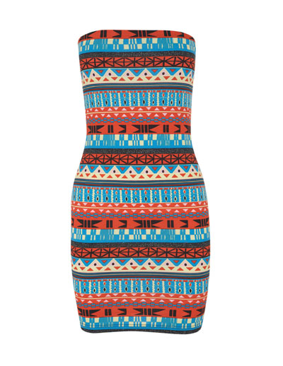 Producto: vestido estampado étnico