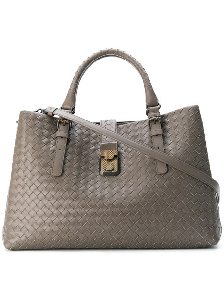 Bottega Veneta - Medium Roma bag - women - Bos Taurus - One Size, Grey, Bos Taurus
