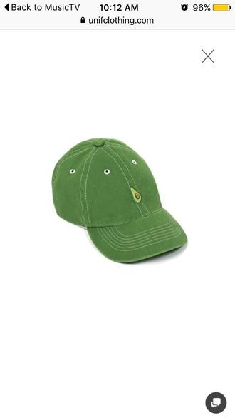 hat unif green baseball cap aesthetic