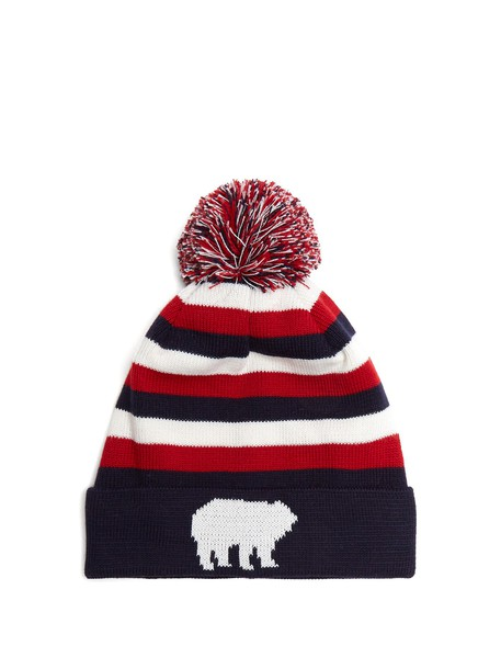 Perfect Moment hat beanie wool navy