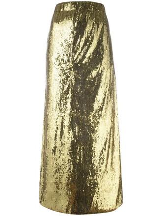 skirt maxi skirt maxi women spandex grey metallic