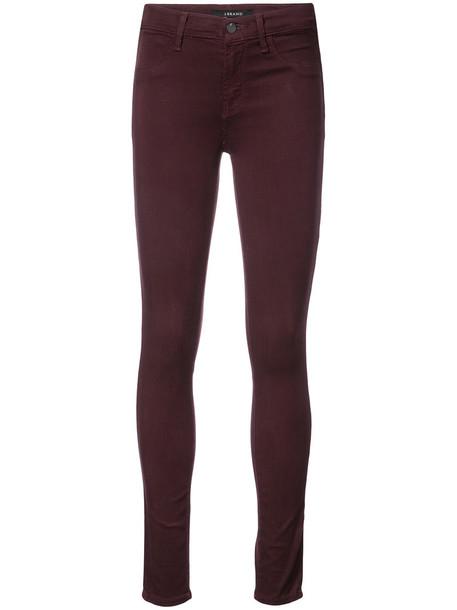 J BRAND women spandex cotton purple pink pants