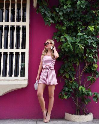 shoes sandals heels sandal heels stripes bag sunglasses earrings