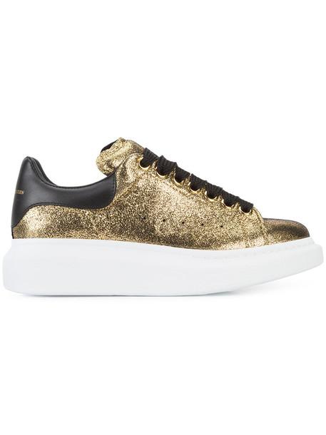 Alexander Mcqueen women sneakers leather grey metallic shoes