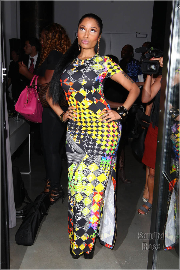 nicki minaj bodycon dress dress with side slit sexy dress