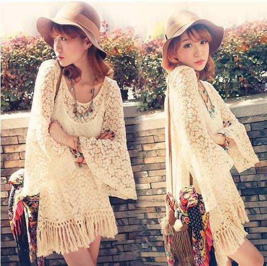 Aliexpress.com : Buy 2014 Hot Fashion Women Vintage Embroidery Hippie Boho Bell Sleeves Gypsy Festival Fringe Shirt Holoow Lace Blouses Free Shipping from Reliable blouse sequins suppliers on Shenzhen Gache Trading Limited