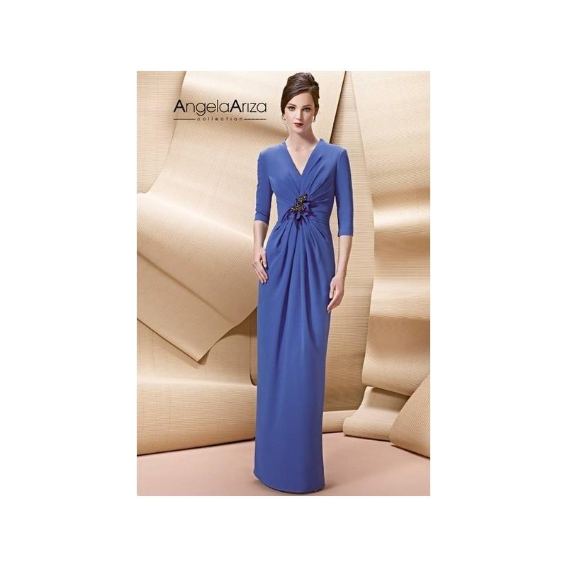 Vestido de fiesta de Angela Ariza Modelo A1726 - 2015 Vestido - Tienda nupcial con estilo del cordón