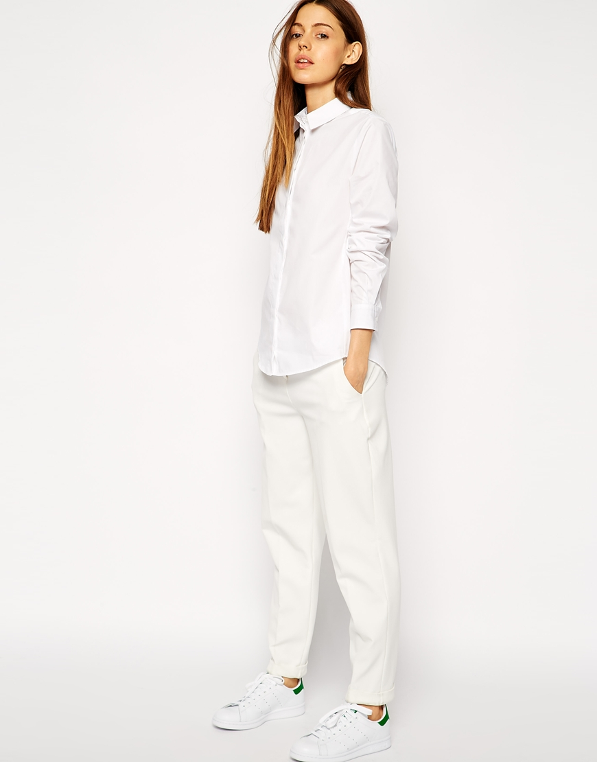 ASOS Slim Line Boyfriend Shirt at asos.com